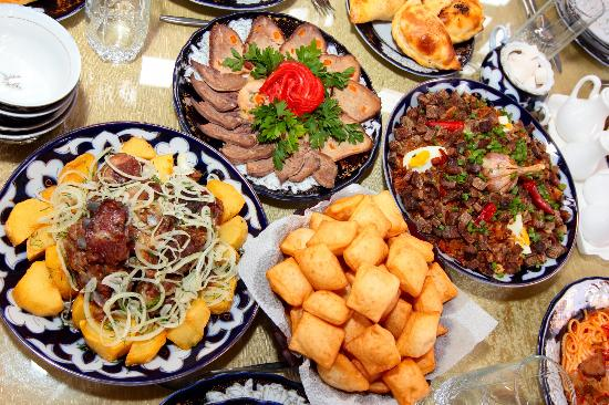 Kyrgyz national dishes and drinks